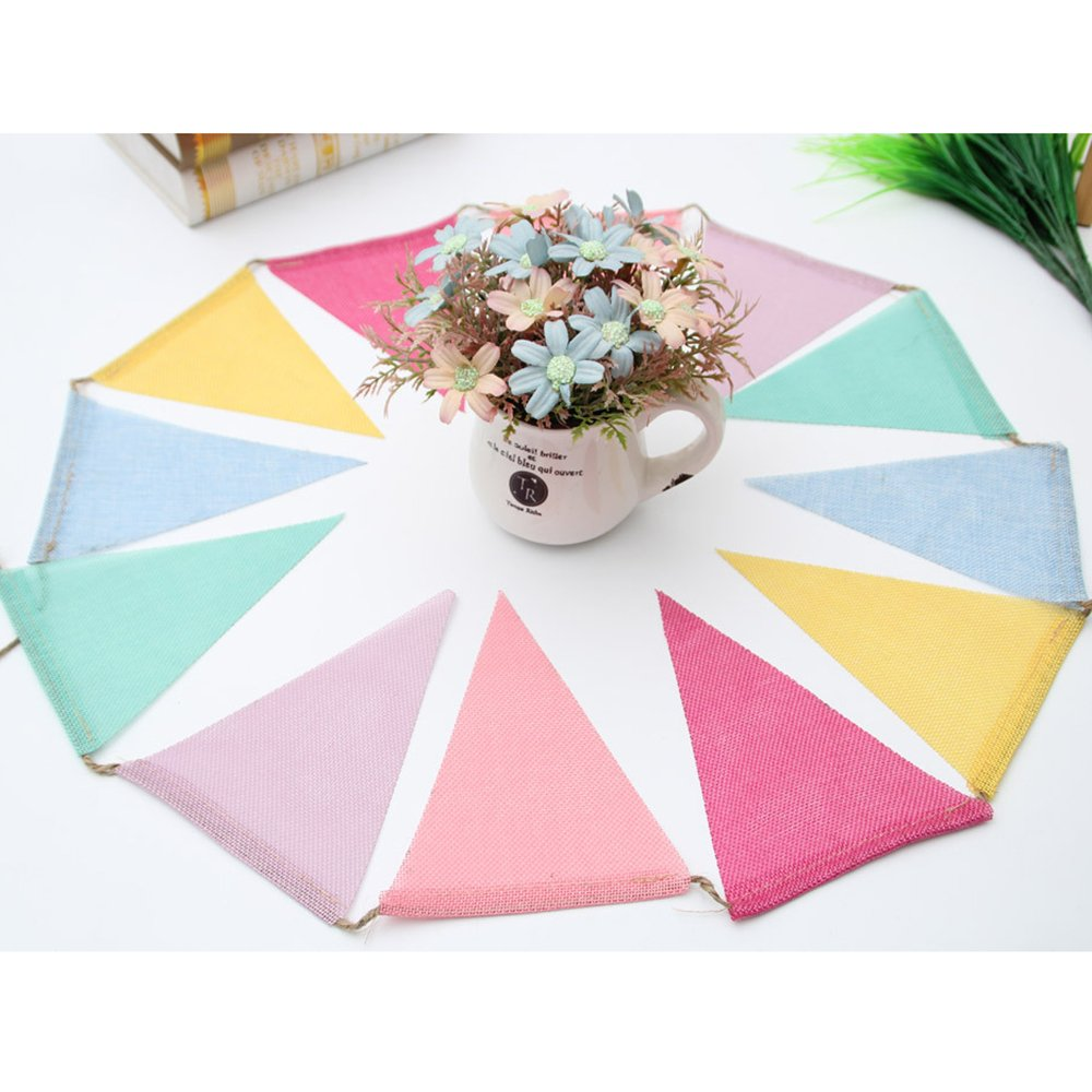 Pennant Banner Triangle Flags, 3 x 12pcs Multicolor Bunting 4m (13.12ft) Colorful Pennants Accessories for Baby Shower,Wedding Birthday Party Wall Decorations Celebrations Shops Bar School Christmas robinlu