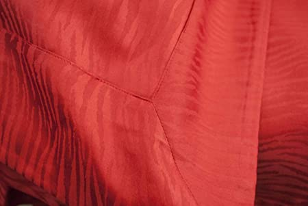 Sacco Copripiumino Matrimoniale 250x250.Copripiumino Matrimoniale Rosso Raso Cotone Jaquard Zebra 250x250