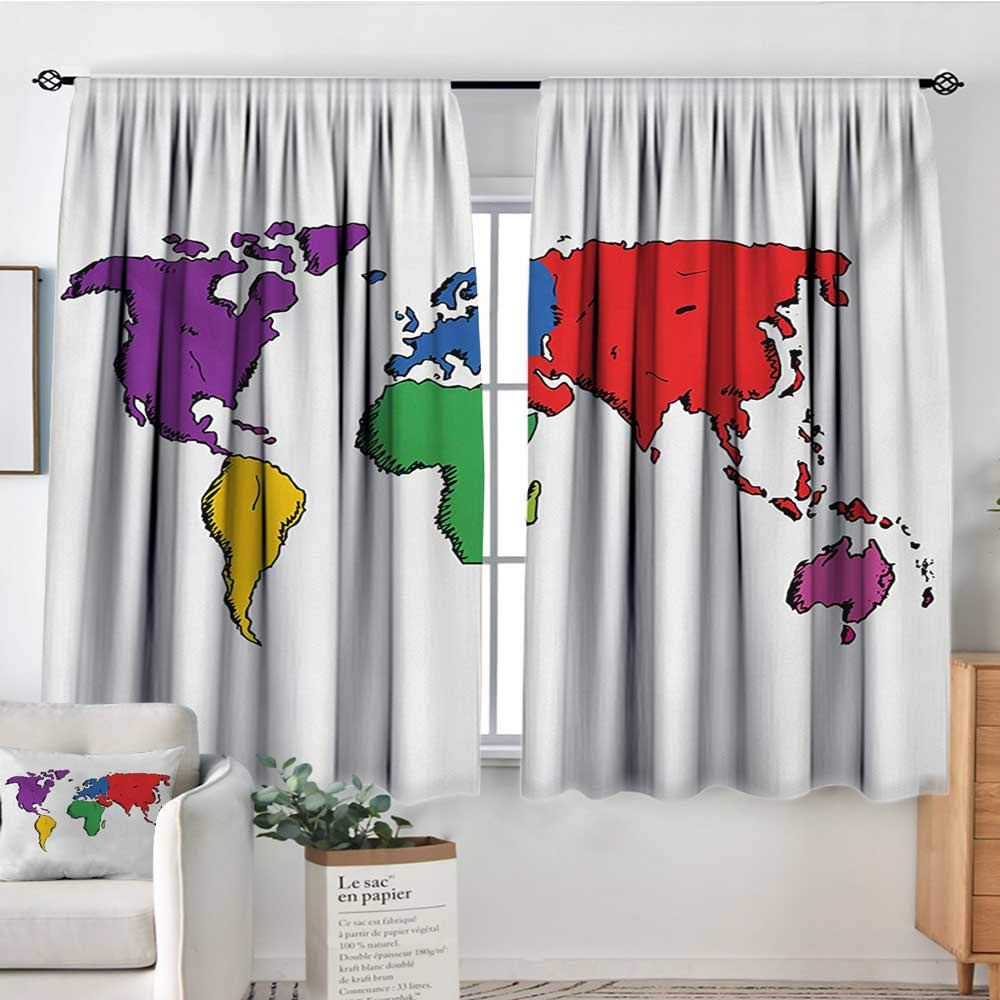 color14 55 W x 45 L Elliot Dgoldthy Sliding Curtains Word Search Puzzle,colorless Pirates Themed Educational Puzzle Treasure Map and Icons,Grey Black White,Thermal Insulated Light Blocking Drapes for Bedroom 42 x54