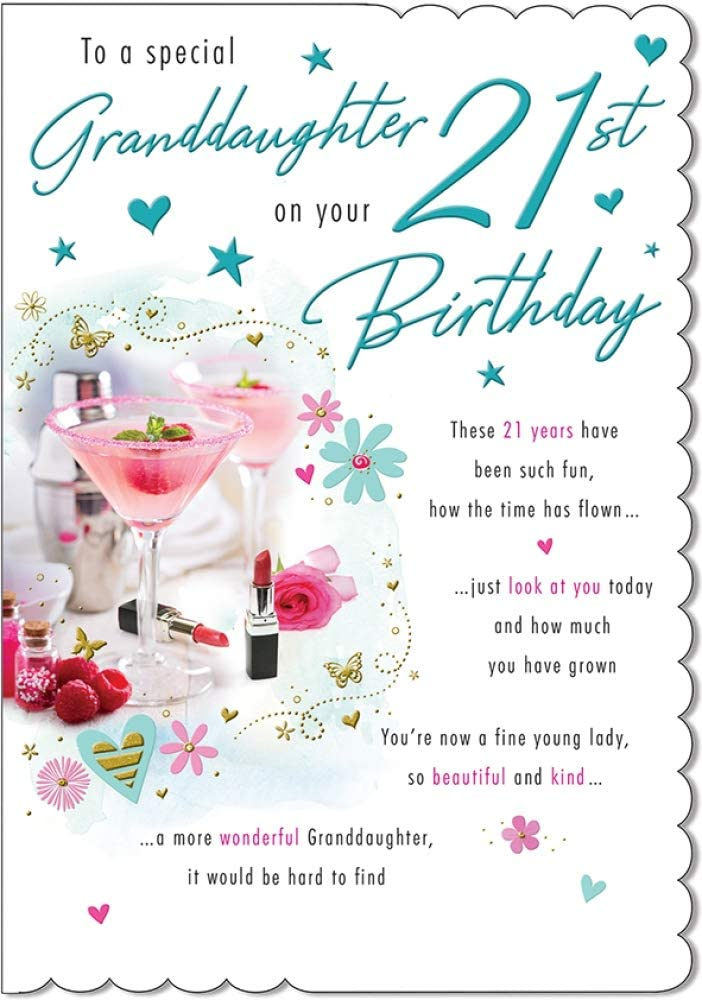 Amazon Com Special Granddaughter 21st Birthday Card 9 X 6 25 Inches Piccadilly Greetings Office Products