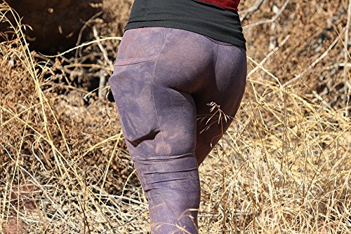 Terrain Leggings Hemp pocket pockets yoga pants vegan clothing hippie eco-friendly sustainable by Flower Pot Handmade
