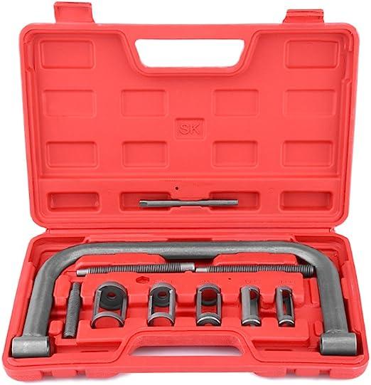 Suuonee Kompressor Removal Tool 10 Stück Ventilfederspanner Kit Removal Installer Tool Für Auto Van Motorrad Motoren Auto