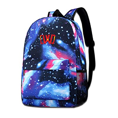 Galaxy Printed Shoulders Bag CWC Chad Wild Clay Ninja Fashion Casual Star Sky Backpack For Boys&girls: Shoes