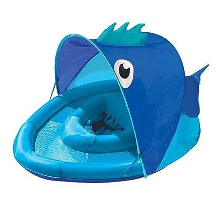 YZ Cinturón Inflable para Niños Sombrilla Protección UV Asiento Bebé Jugando Agua Anillo de Natación Sentado