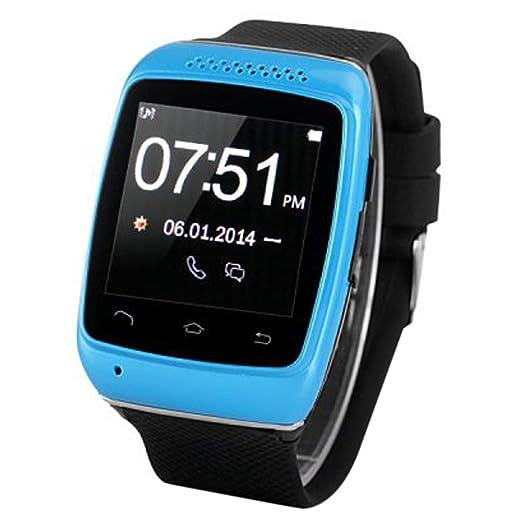 Teckey S12 Reloj pulsera inteligente Smartwatch Bluetooth llamadas SMS sincronización podómetro anti-perdido manos-libres para Android Samsung HTC Sony: ...