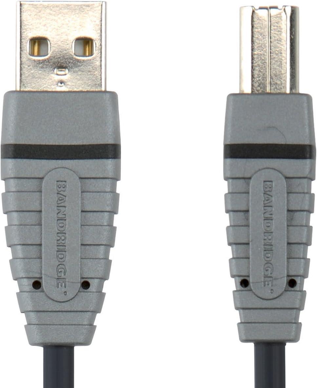 BANDRIDGE 3m USB A Male to USB B Male Device Cable