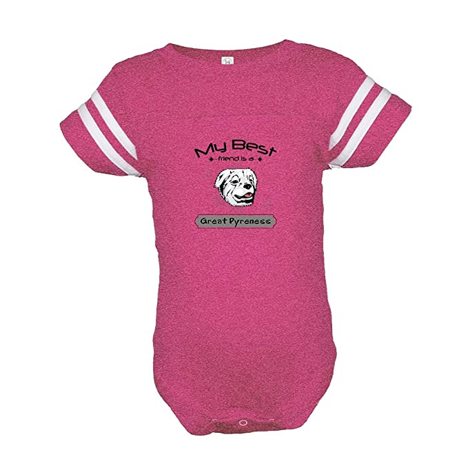 3bcbb2bdf Amazon.com  GREAT PYRENESS DOG Best Friend is Baby Kid Football Fine ...