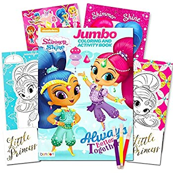 Shimmer And Shine Coloring Book Set Jumbo Stickers Markers More Party Supplies