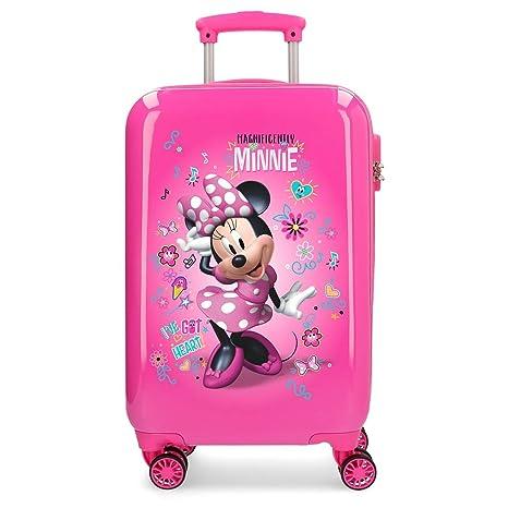 Disney Minnie Minnie Stickers, Maleta rígida con Pegatinas para niños, 55 cm, 32