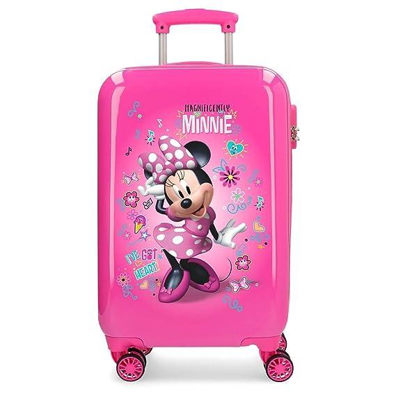 Disney Minnie Minnie Stickers, Maleta rígida con Pegatinas para niños, 55 cm, 32 litros, Rosa: Amazon.es: Equipaje