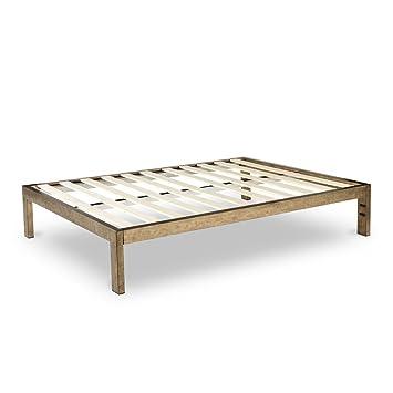Amazon Com The Frame Gold Brushed Steel Frame Platform Metal Bed