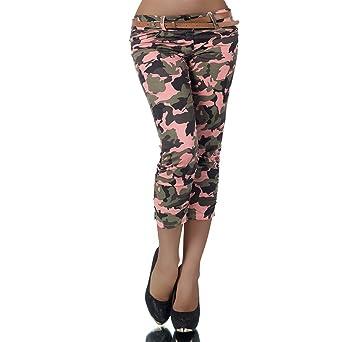 Diva-Jeans H969 Damen Chino Hose Stoffhose Capri Bermuda Sommerhose Boyfriend  Shorts Gürtel  Amazon.de  Bekleidung 73a803d4d8
