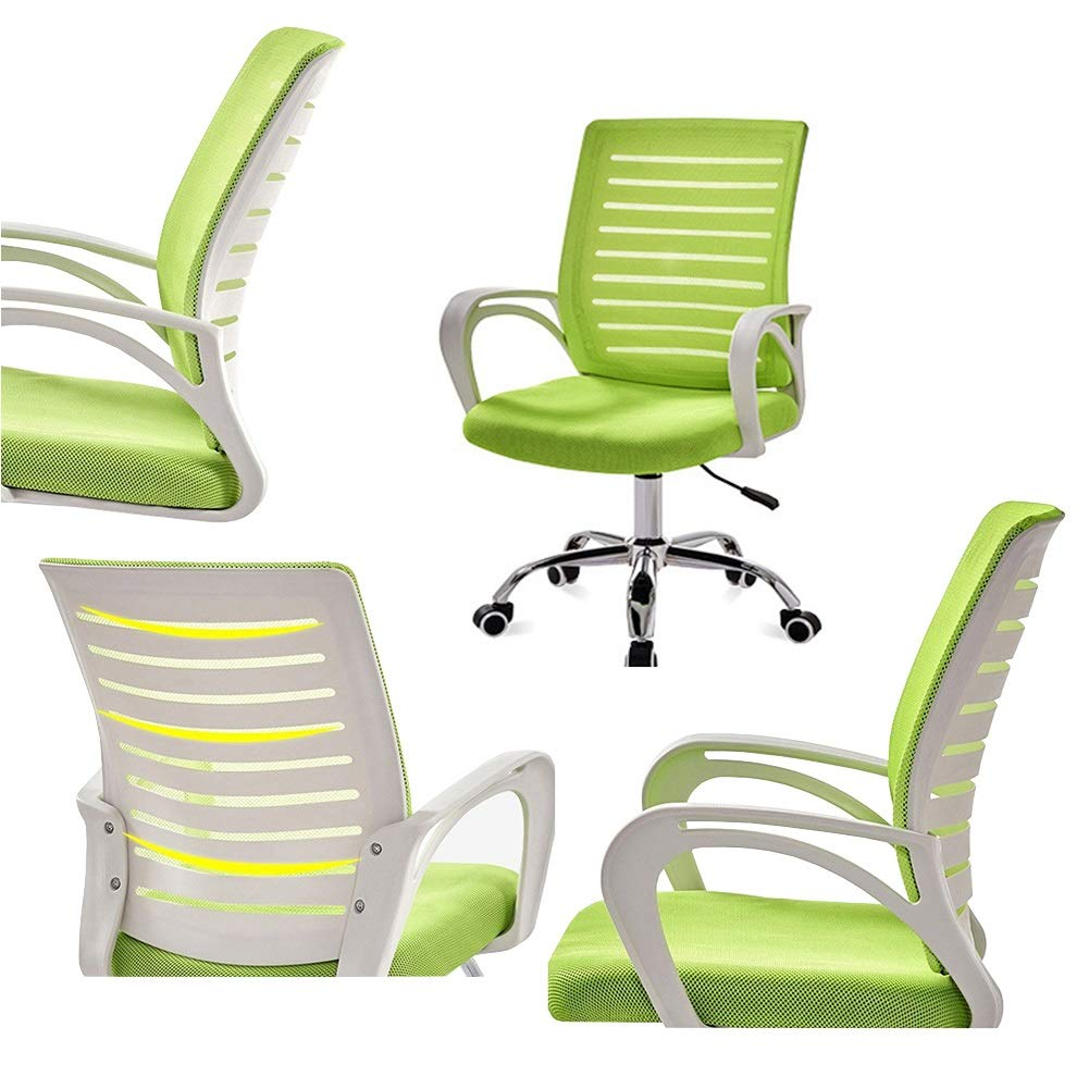 XZYZ stol nät kontor svängbar, datorspel verkställande uppgift armstöd stoppat säte, lutspänning ergonomisk justerbar höjd (färg: svart) Orange