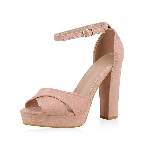 wo kann ich kaufen online zum Verkauf neu kommen an SCARPE VITA Damen Plateau Sandaletten mit Blockabsatz