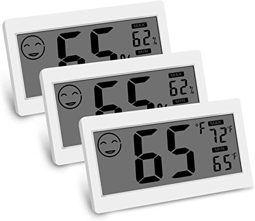 Brifit Digital Room Thermometer Humidity Gauge Comfort Indicators for Home Indoor Hygrometer Thermometer with Large LCD Screen Temperature Meter with Max Min Records Office