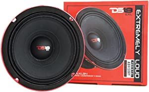 "DS18 PRO-EXL84 Loudspeaker - 8"", Midrange, Red Aluminum Bullet, 800W Max, 400W RMS, 4 Ohms, Ferrite Magnet - For the Peple Who Live and Breathe Car Audio (1 Speaker)"
