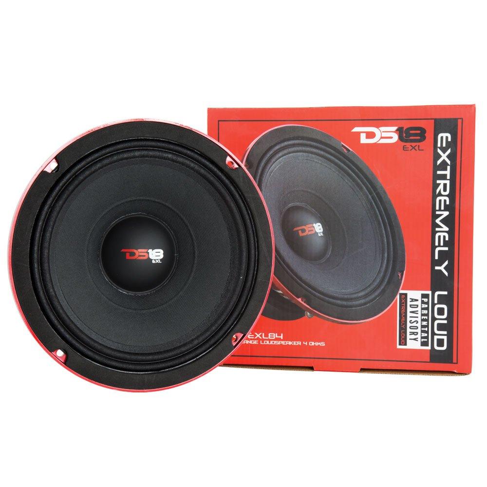 DS18 PRO-EXL84 Midrange 4-Ohm Loudspeaker 400W Rms, 800W Max Power-Set of 1 - 8''
