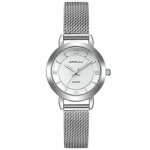 NANHONG Reloj de Pulsera de Cuarzo para Mujer, diseño Simple ...