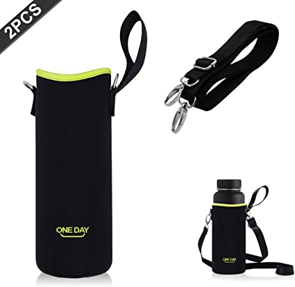 Heavy Duty Water Bottle Cup Carrier Holder Case /& Adjustable Shoulder Strap
