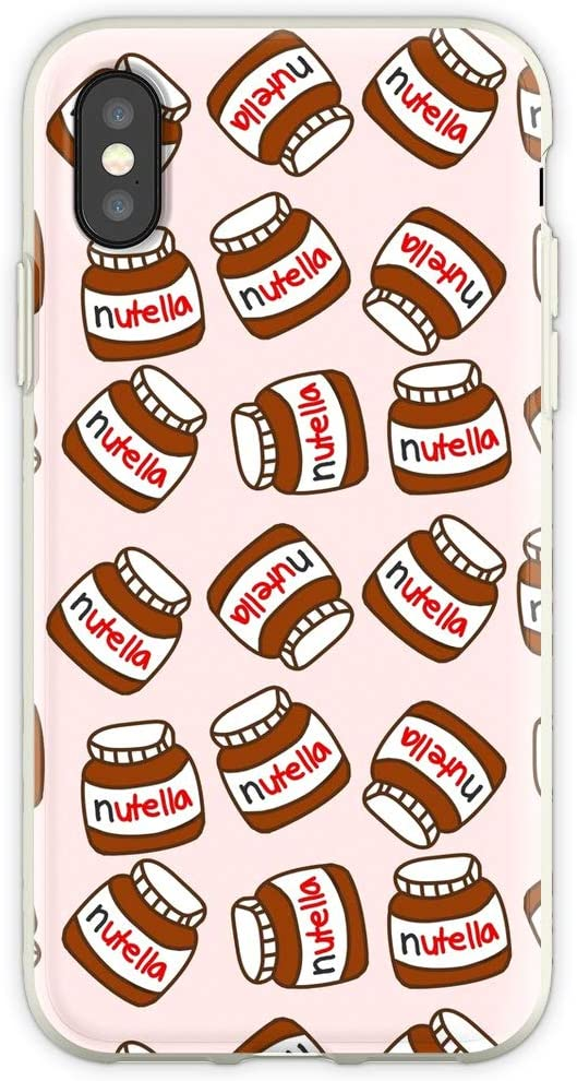 Cute Tumblr Nu-Tella Pattern Clear Shockproof Cases Cover Compatible for iPhone 6 Plus/6s Plus
