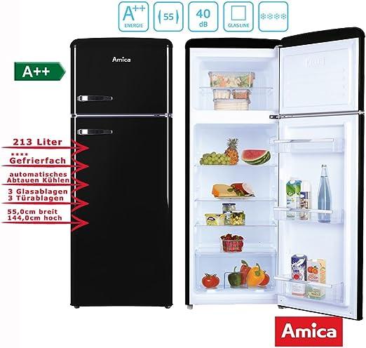 Amica KGC15634S nevera y congelador Independiente Negro A++ ...