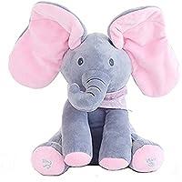 Juguete de peluche para bebé peek-a-boo Elefante, juego