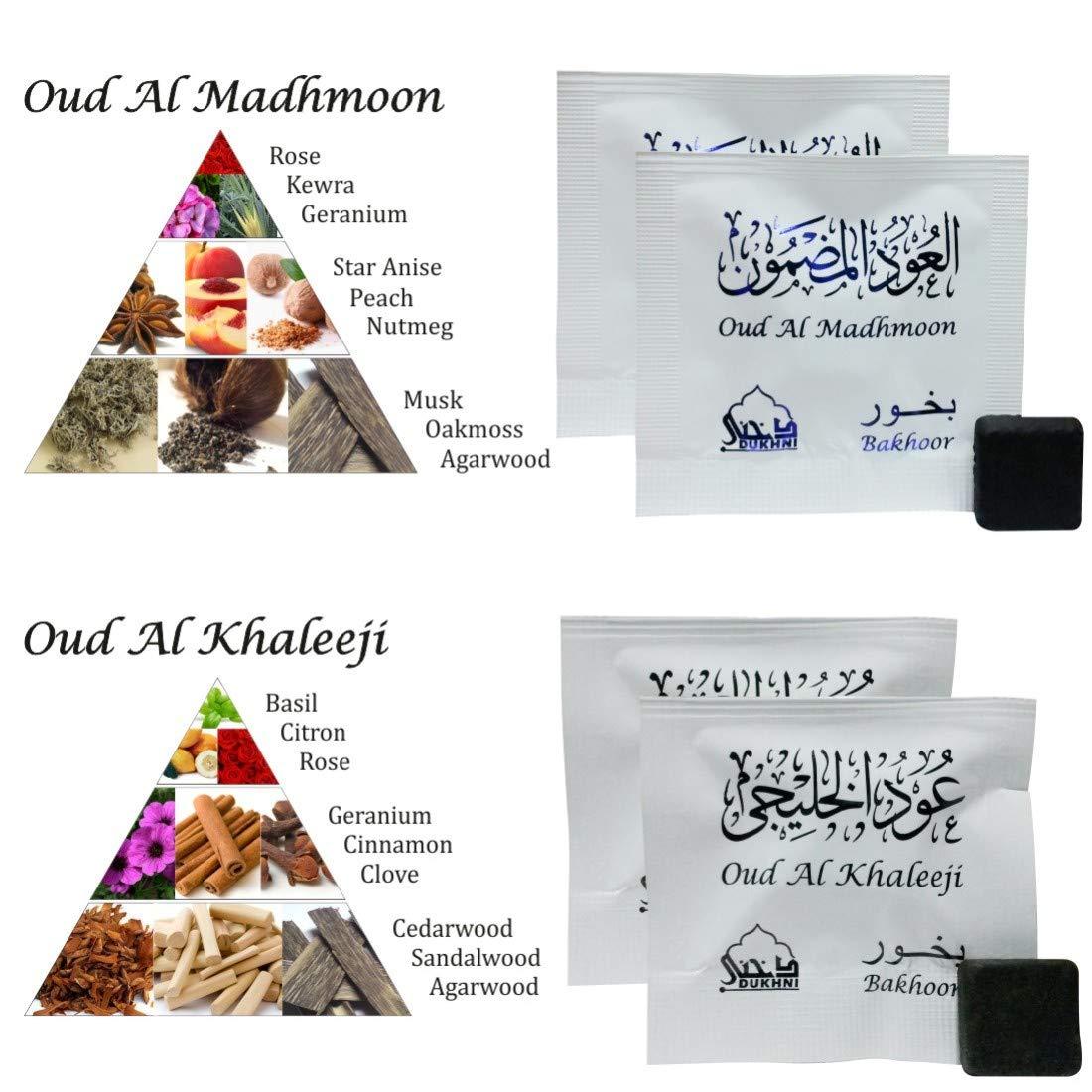 Dukhni Oud Bakhoor Incense Variety Box & Rainbow Bakhoor Burner - Gift Set & Starter Kit by Dukhni (Image #8)