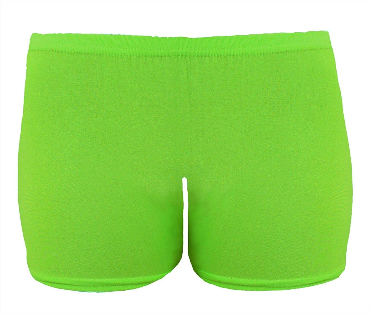 NEW LADIES KIDS VEST HOT PANT SHORTS LEGGING GIRL LYCRA NEON TOP SOFT DANCE WEAR