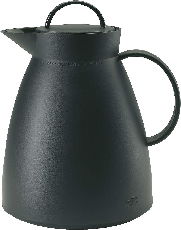 Alfi 0935.020.100 - Jarra térmica, plástico, 1,0 litro, Color Negro