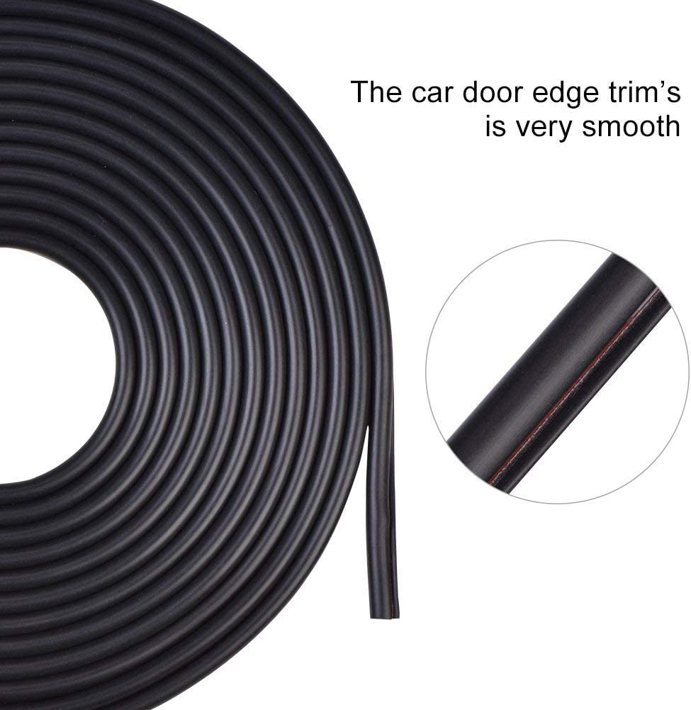 Car Trim Bumper Protector Fit Most Cars White Ejoyous 5m Car Door Edge Protector Strip Anti-Collision Seal Flexible Door Sill Protector with Strong Adhesive