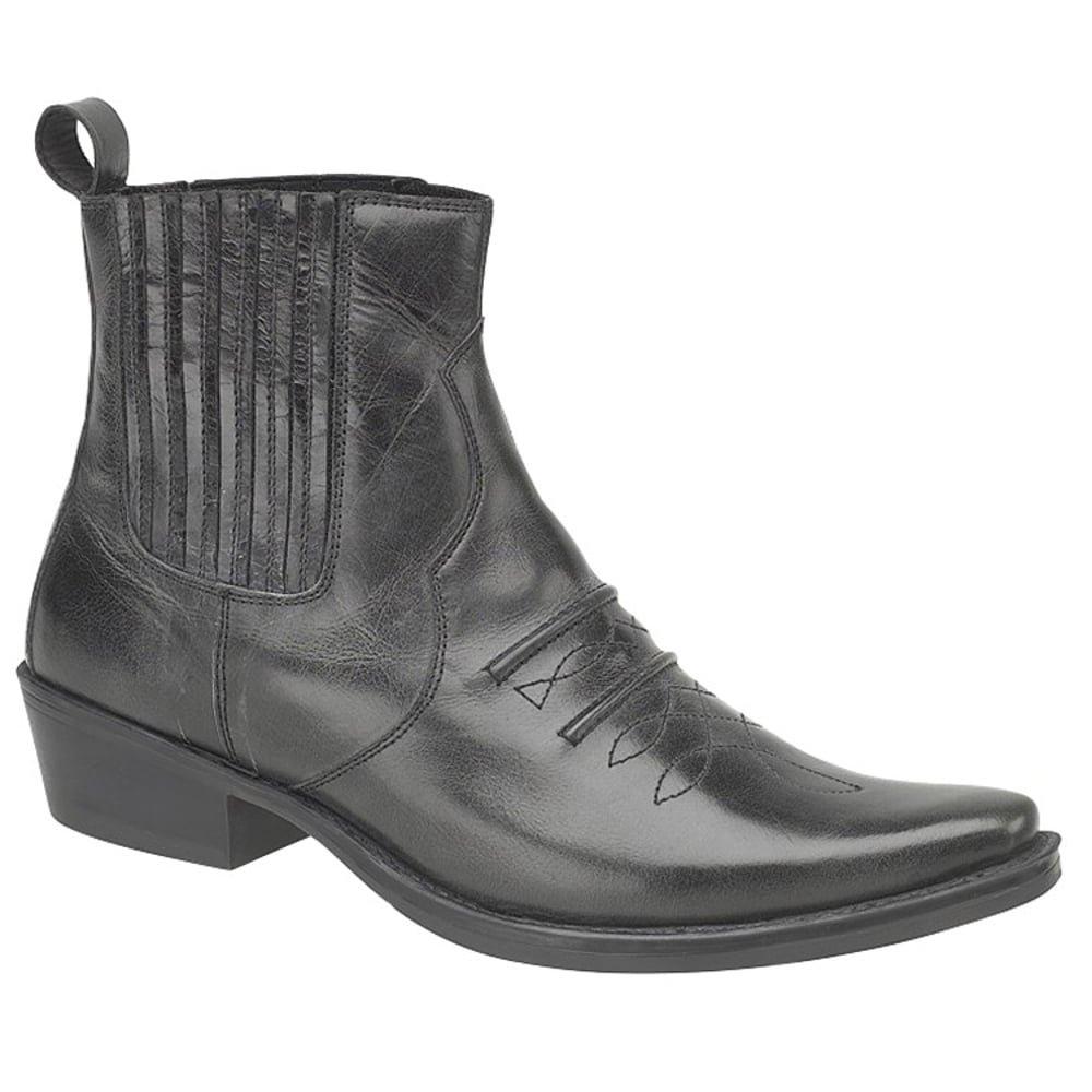Schwarz Leder Cowboy von Stiefel von Cowboy GRINGOS 9560a1