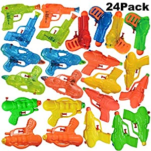 Joyin Toy 24 Pack Assorted Water Gun Blaster Soaker Summer Swimming Pool Beach Toy Water Squirt Gun Water Fight Toys