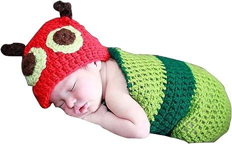 KINDOYO Apoyos de la fotografía, gorro de algodón de punto dell uncinetto, foto del niño trajes para su hermosa niña y el niño pequeño: Amazon.es: Bebé