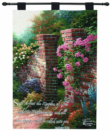 Manual Woodworkers And Weavers Thomas Kinkade Rose Garden...