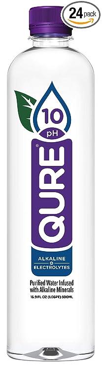 Qure Alkaline Water, 16.9 Ounce