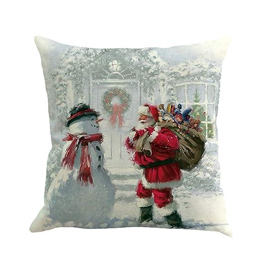 XXYsm Almohada Vintage Navidad Imprimir Cojín Decorativo ...