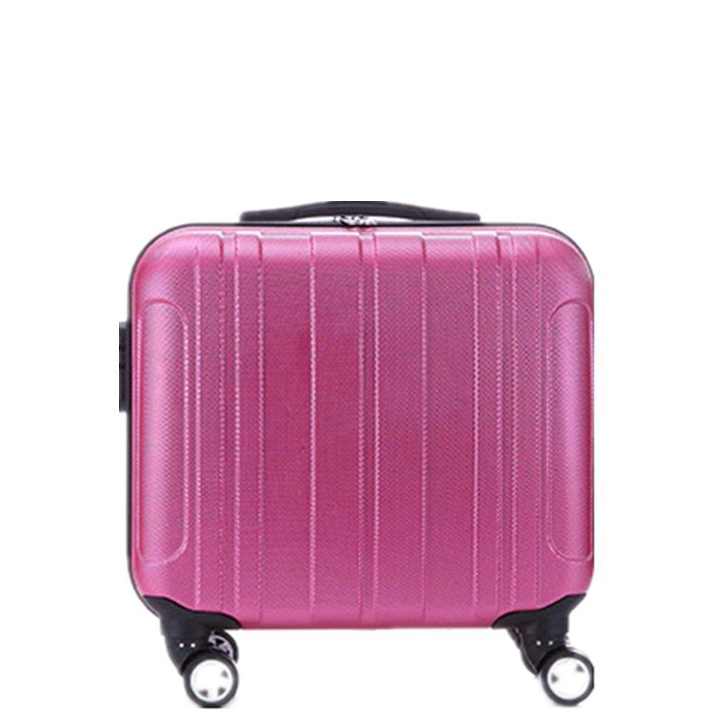 プレミアム回転ABSスーツケース子供用スーツケースプルロッドボックス16インチビジネスケースチェックインボックス。 耐摩耗輸送ボックス (色 : ピンク) B07RVDNVZ8 ピンク