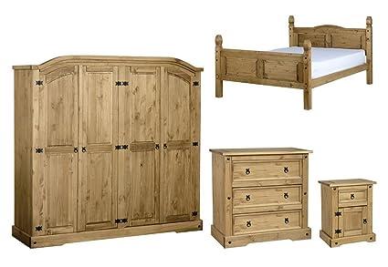 Seconique Corona 4 piezas Juego de muebles para dormitorio - Pie ...