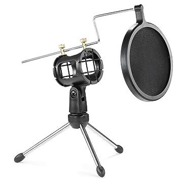 Mikrofonstativ Mikrofon Stativ Faltbare Desktop Mikrofon Halterung Mit Shock Mount Mic Halter Clip Und Pop Filter Heimelektronik Zubehör