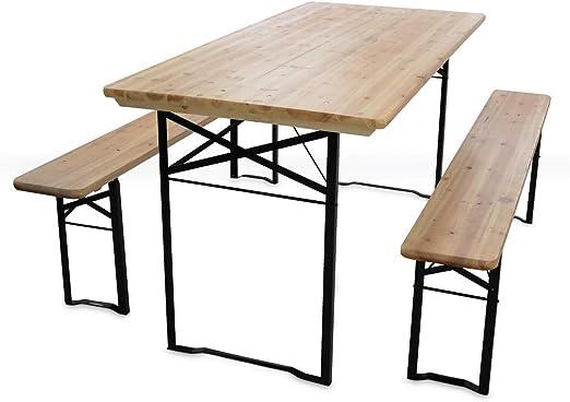 cm MobEventPro 180 et Table en bancs Set brasseur 2 Bois TF1lJc3K