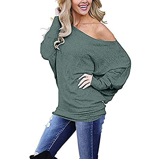 96b136047898 Vests Sweaters DaySeventh Women Solid Off Shoulder Knitted Sweater Long  Latern Sleeve Pullover Top Blouse