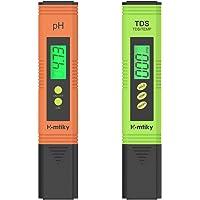 Homtiky PH meetinstrument TDS EC PH temperatuur 4-in-1 set waterkwaliteit tester met hoge nauwkeurigheid, zwembadtester…