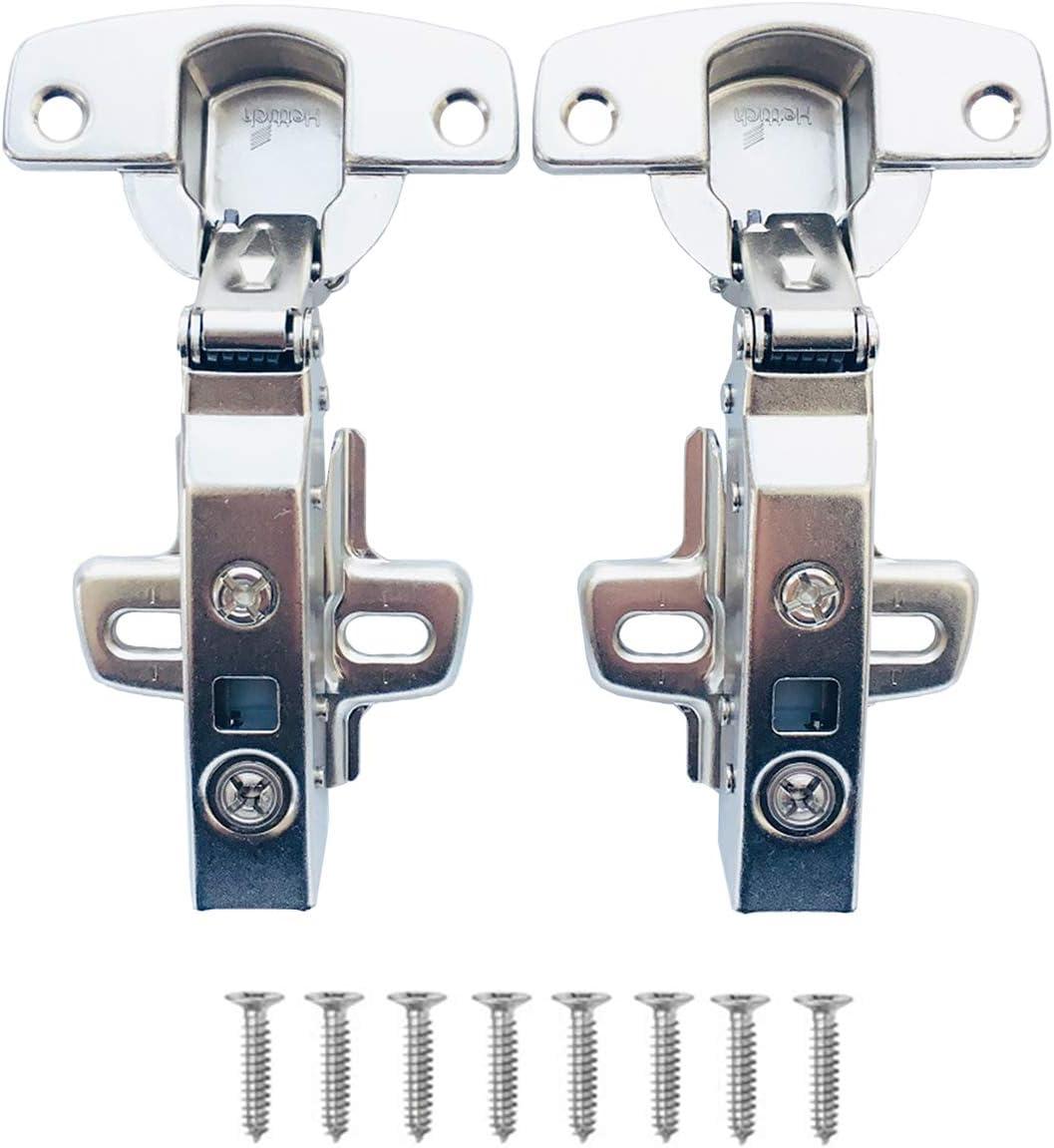 Hettich Sensys 8645i TH52 110 Grado Superposición Total Bisagras 9071205 Automática con Amortiguación Integrada Suave Cierre Automático para Puerta Mueble Armario Amortiguadores 2 Pcs