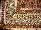 Full Moon Loom Kalamkari Block Print Tapestry Cotton Bedspread 102'' x 72'' Twin