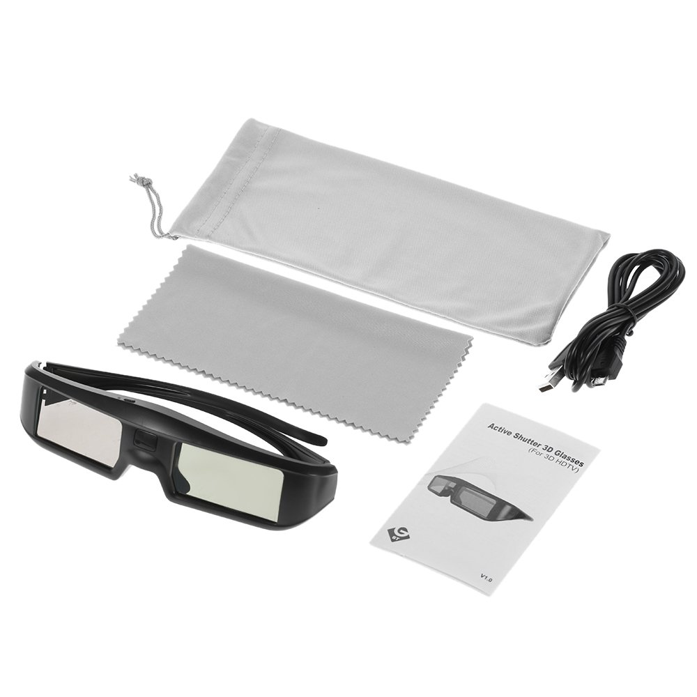 2X 3D Active Shutter Glasses Rechargeable - Sintron ST07-BT for RF 3D TV, 3D Glasses for Sony, Panasonic, Samsung 3D TV, Epson 3D projector, Compatible with TDG-BT500A TDG-BT400A TY-ER3D5MA TY-ER3D4MA by Sintron (Image #3)