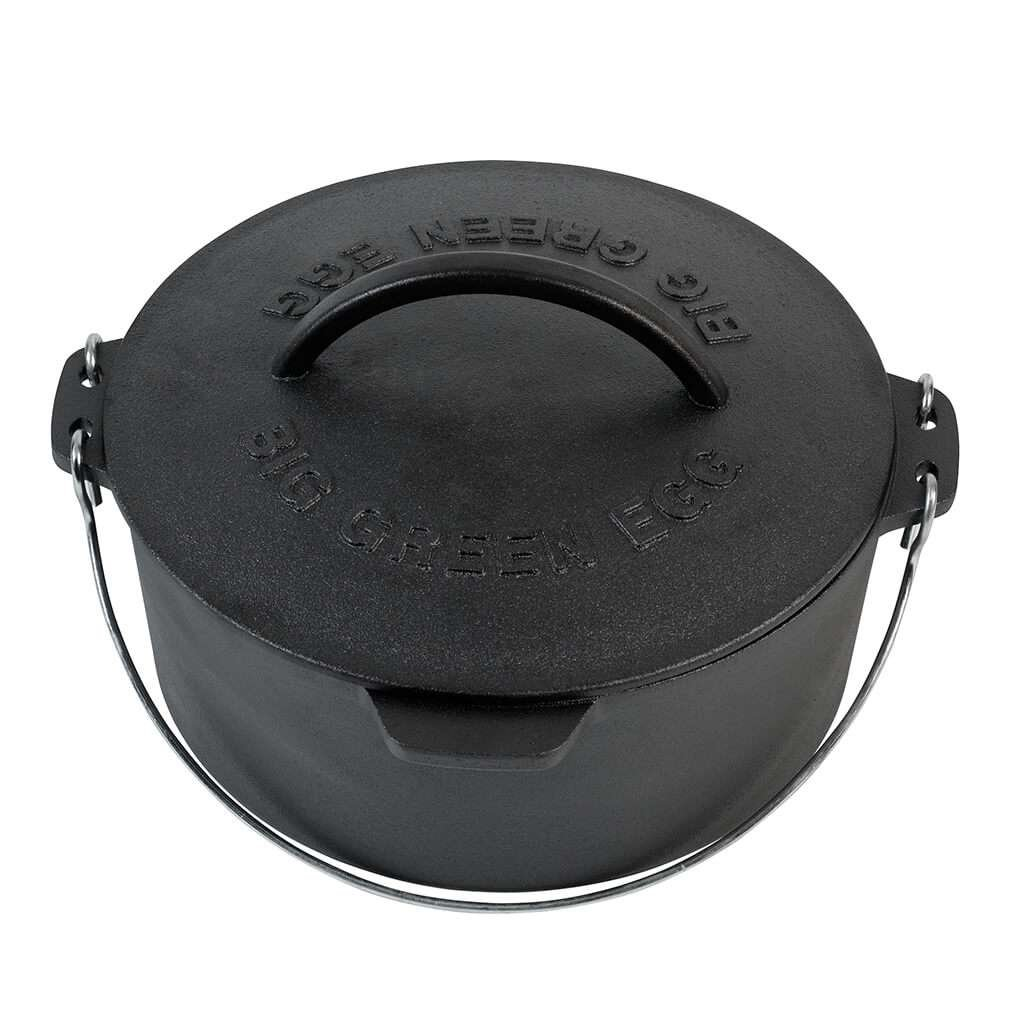 Big Green Egg Cast Iron Dutch Oven with Lid 5.5qt - M, L, XL, XXL, 2XL