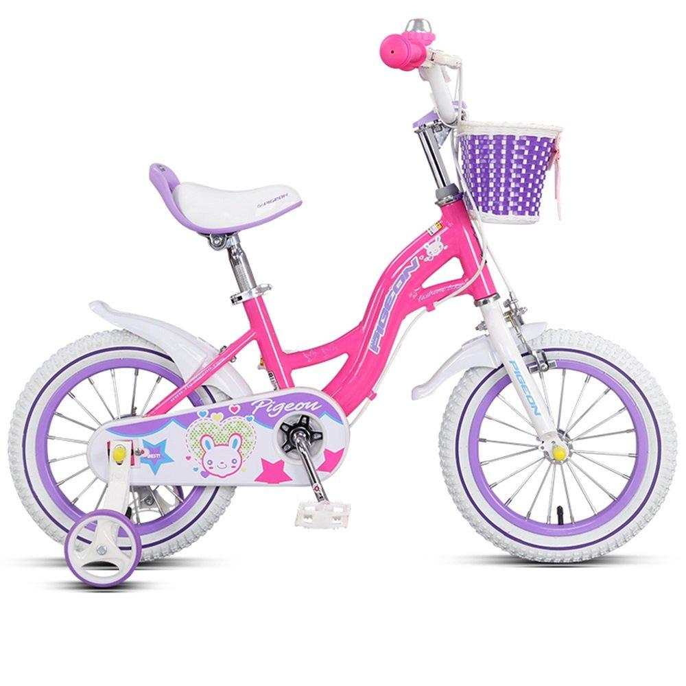 子供用自転車、14/16インチアルミニウム合金フレーム、男の子と女の子3-8歳の乳母車 ( 色 : ピンク ぴんく , サイズ さいず : 16 inch ) B078KP43Y6 16 inch ピンク ぴんく ピンク ぴんく 16 inch