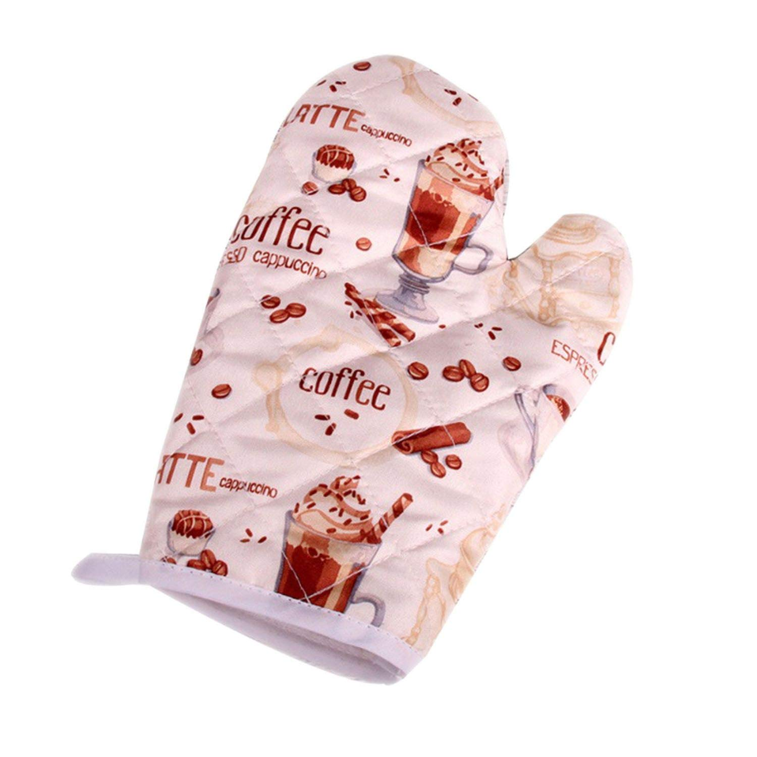start-imagine Oven Mitts 1 Pcs Kitchen Supplies Cotton Thick Microwave Oven Gloves High-Temperature Insulation Gloves,P6