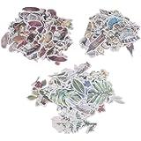 Conjunto de adesivos HEALLILY de papel washi, adesivos decorativos de papel japonês impermeáveis para álbuns de fotos e agend