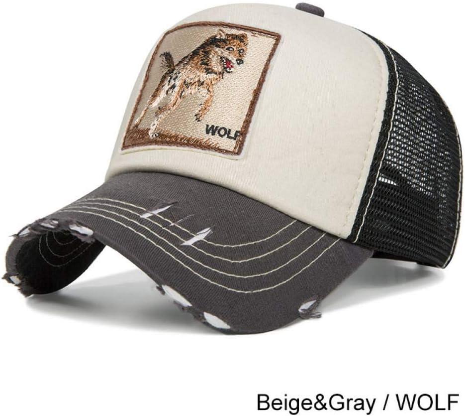 ZSOLOZ Baseball Caps Summer Breathable Mesh Baseball Cap Women/&Men Snapback Trucker Hat Tiger Cat Embroidery Hip Hop Casquette Animals Bone